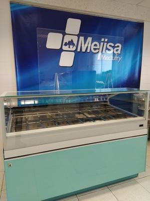 Mampara anticontagio de MEJISA para heladerias, comercios y empresas