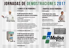 Programa de actividades Jornadas de Demostraciones Mejisa 2017